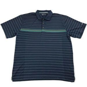 Nike Golf Blue Striped Polo Shirt Men's XL